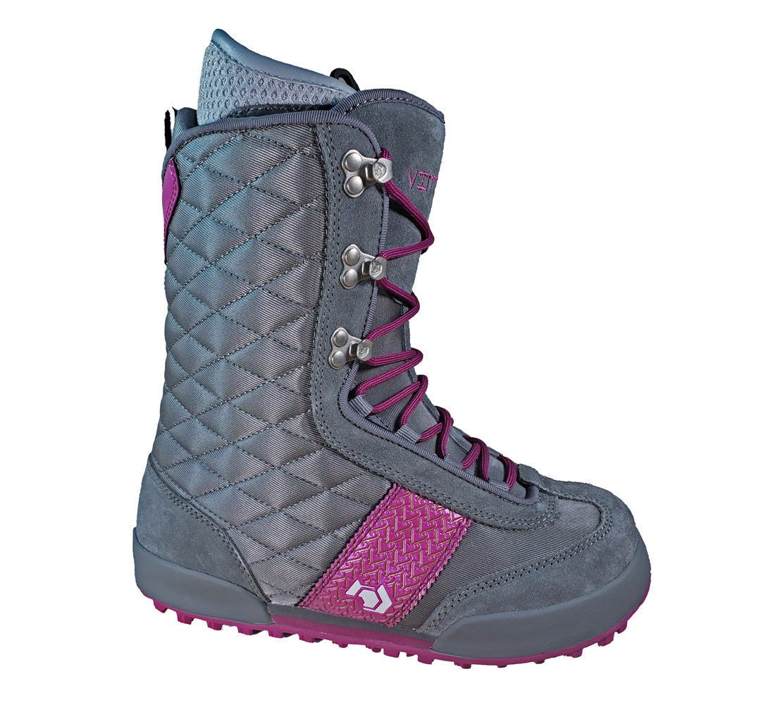 Northwave Vintage Snowboard Boots Grey Violet, Womens 6.5-7.5 (runs 1/2-1 size small)