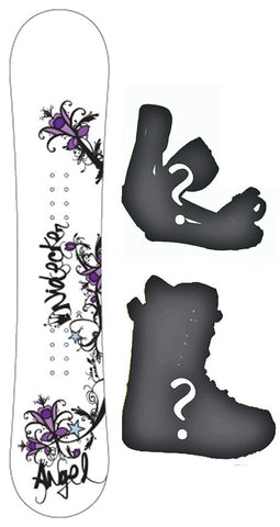125cm  Nidecker Angel Camber Snowboard, Build a Package with Boots and Bindings