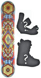 155cm  Nightmare Illuminati Rocker Snowboard, Build a Package with Boots and Bindings