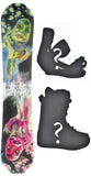 148cm  Nightmare Zombie Flat Rocker Snowboard, Build a Package with Boots and Bindings