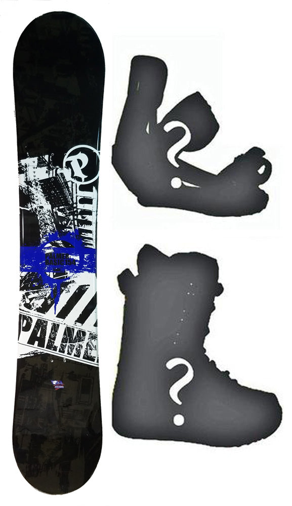 151cm Palmer Basic Camber Mens Blem Snowboard, Build a Package with Boots and Bindings.