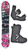 151cm Palmer Crack Pink, Camber Mens Blem Snowboard, Build a Package with Boots and Bindings.
