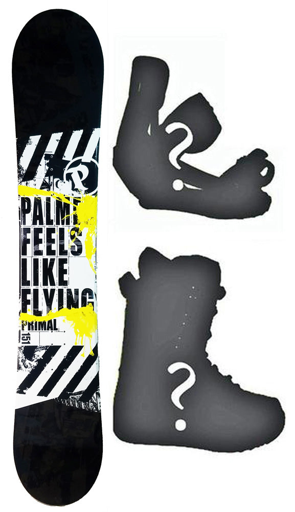 151cm Palmer Primal Camber Mens Blem Snowboard, Build a Package with Boots and Bindings.