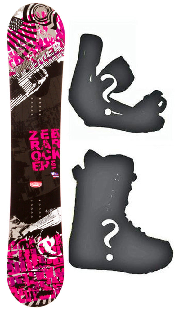 154cm Palmer Rocker Zebra Camber Mens Blem Snowboard, Build a Package with Boots and Bindings.