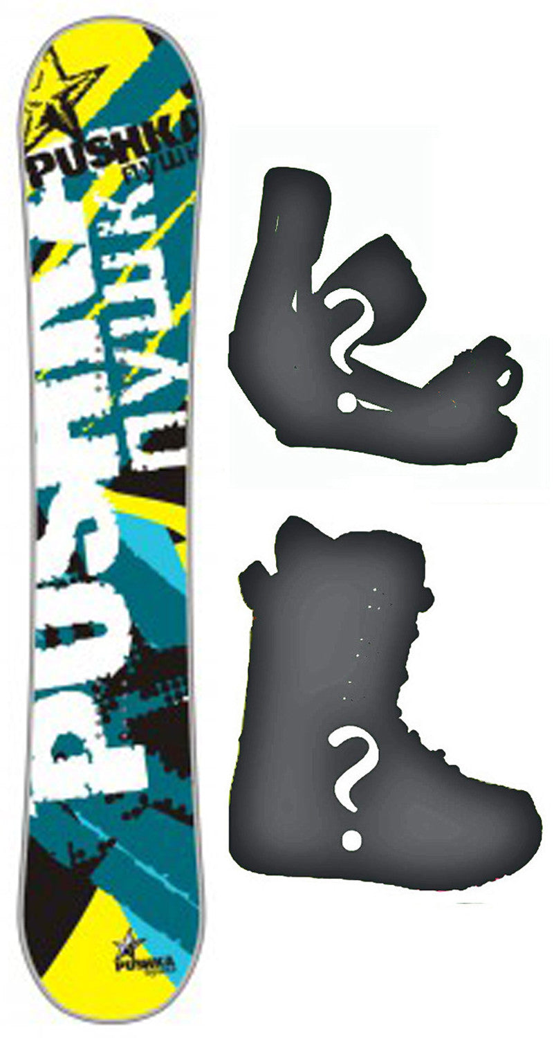 156cm  Pushka Nywka Rocker Snowboard, Build a Package with Boots and Bindings