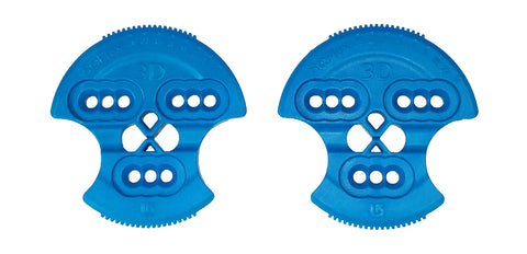 Burton Re:Flex 3D Hole Pattern Replacement Mounting Discs (Pair) REFLEX Blue