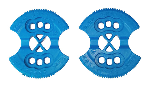 Burton Flex EST ICS Channel Replacement Mounting Discs (Pair) Blue