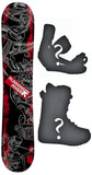 153cm  Running River Musician W-Rocker Snowboard, Build a Package with Boots and Bindings
