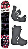 140cm Silicon Crack, Camber Mens Snowboard, Build a Package with Boots and Bindings.