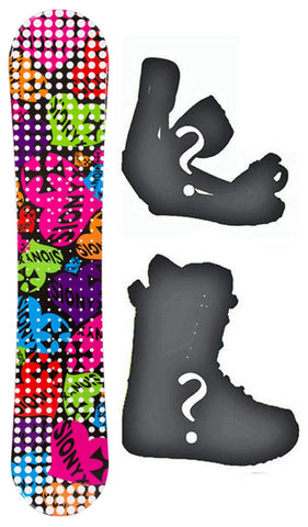 135cm Sionyx Hearts Black Camber Womens Snowboard, Build a Package with Boots and Bindings.