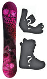 140cm Sionyx Skull Flower, Camber Womens Snowboard, Build a Package with Boots and Bindings.