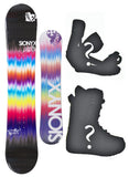 140cm Sionyx Tie Dye Brown, Camber Womens Snowboard, Build a Package with Boots and Bindings.