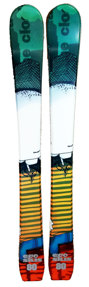 80cm Eco Sketch Jr. Blem Skis, Ski Blades, Ski Board.