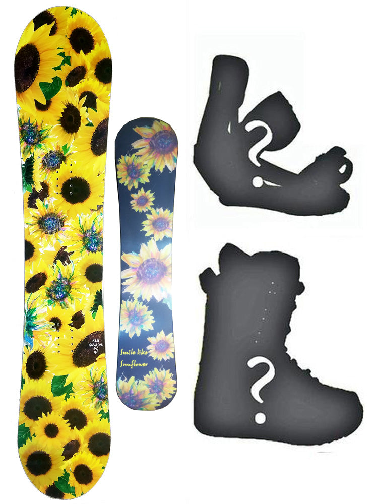 138cm SLQ Girasol W-Camber Womens Snowboard, Build a Package with Boots and Bindings.