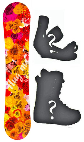 138cm Slq DC Hug Me  W-Camber Womens Snowboard, Build a Package with Boots and Bindings.