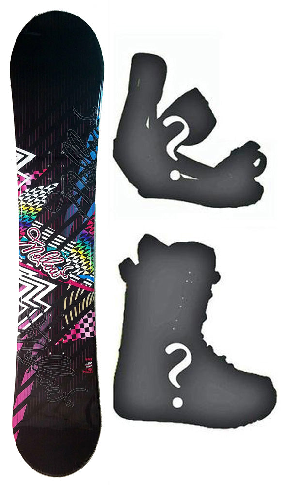 140cm SLQ Mellow Rocker Womens Snowboard, Build a Package with Boots and Bindings.