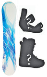 140cm SLQ Feather, Rocker Womens Blem Snowboard, Build a Package with Boots and Bindings.