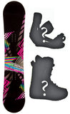 140cm 2B1 Reborn DC Black, Rocker Mens Snowboard Build a Package with Boots and Bindings.