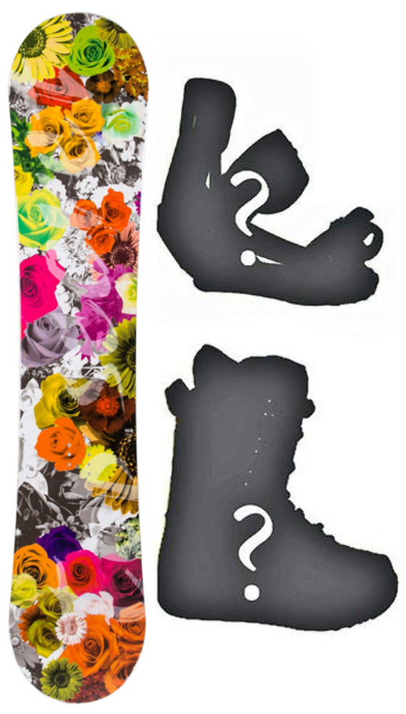 140cm SLQ Secret DC Hybrid Rocker-Camber Womens Girls Snowboard, or Build a Package with Boots and Bindings.