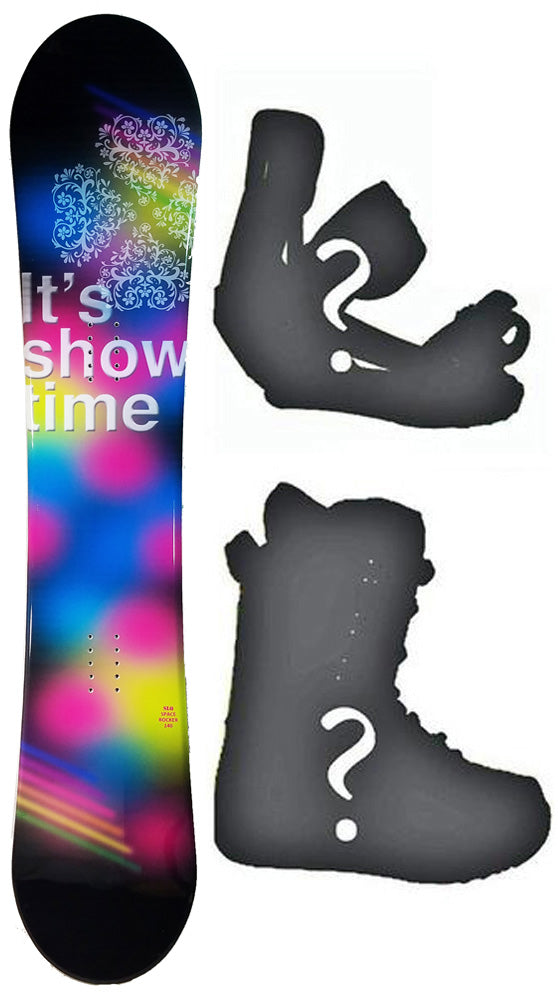140cm SLQ Space Camber Womens Snowboard, Build a Package with Boots and Bindings.
