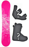 140cm SLQ Why Pink, Rocker Womens Blem Snowboard, Build a Package with Boots and Bindings.