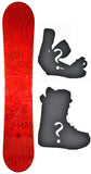 150cm  SLQ Why Red Rocker Snowboard, Build a Package with Boots and Bindings