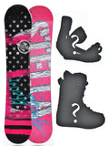 137cm Stella Beauty Black Camber Womens Snowboard, Build a Package with Boots and Bindings.