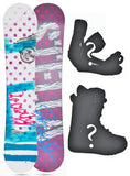 140cm Stella Beauty White, Camber Womens Snowboard Build a Package with Boots and Bindings.