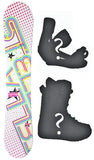 144cm Stella Bubble White, Camber Womens Snowboard, Build a Package with Boots and Bindings.