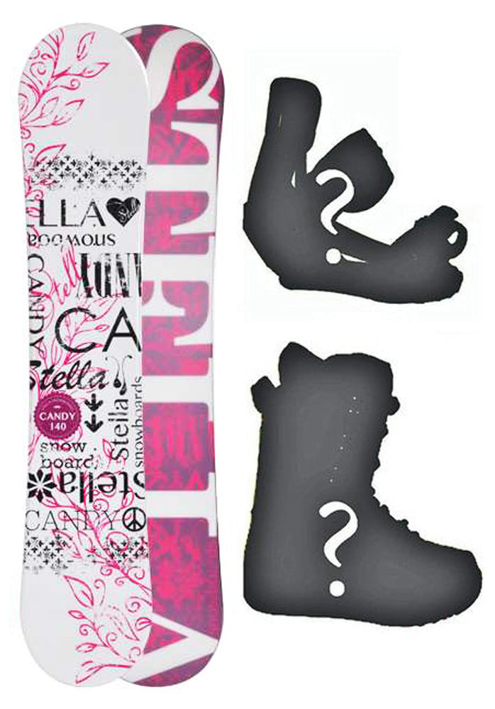 140cm Stella Candy White Camber Womens Snowboard, Build a Package with Boots and Bindings.
