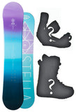 137cm Stella Element Purple Camber Womens Snowboard, Build a Package with Boots and Bindings.