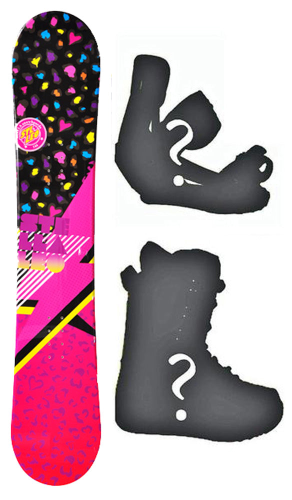 144cm Stella Leo Black Camber Womens Blem Snowboard, Build a Package with Boots and Bindings.