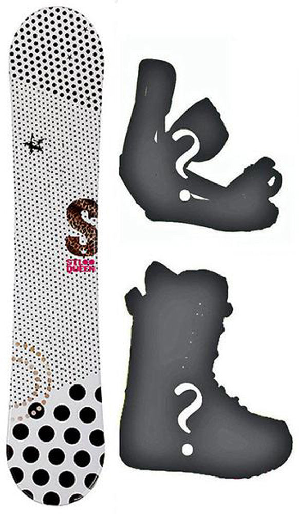 140cm Stella Queen White Rocker Womens Snowboard, Build a Package with Boots and Bindings.