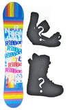 140cm Stella Ribbon Blue, Rocker Womens Snowboard, Build a Package with Boots and Bindings.