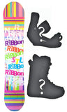 140cm Stella Ribbon Pink, Rocker Womens Snowboard, Build a Package with Boots and Bindings.