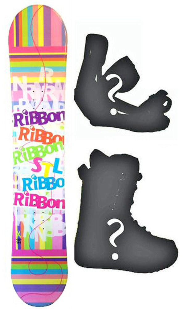 140cm Stella Ribbon Pink, Camber Womens Snowboard, Build a Package with Boots and Bindings.