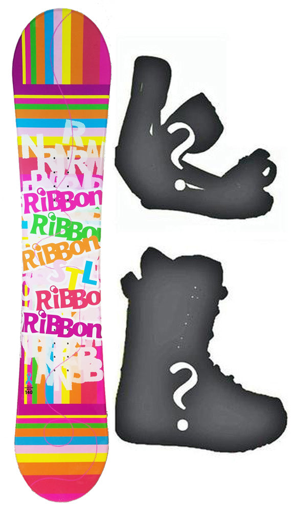 140cm Stella Ribbon, Rocker Womens Blem Snowboard, Build a Package with Boots and Bindings.
