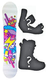144cm Stella Rich White, Camber Womens Snowboard Build a Package with Boots and Bindings.