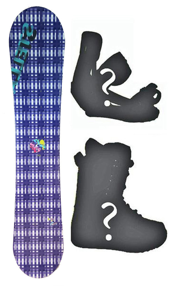 140cm Stella Tartan purple Camber Womens Snowboard, Build a Package with Boots and Bindings.