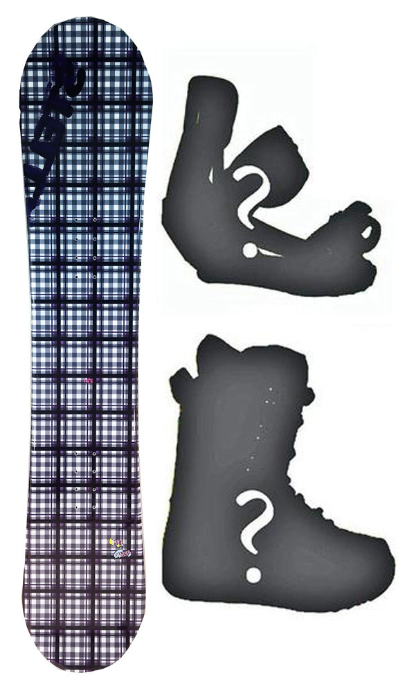 140cm Stella Tartan Black, Camber Womens Snowboard, Build a Package with Boots and Bindings.