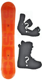 157cm  Sisco TW Orange Blank Camber Snowboard, Build a Package with Boots and Bindings