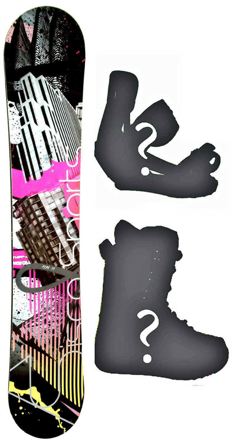 150cm  Sisco Peak Rocker Snowboard, Build a Package with Boots and Bindings