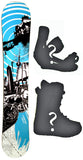 153cm  Sisco Vortex Blue Camber Snowboard, Build a Package with Boots and Bindings