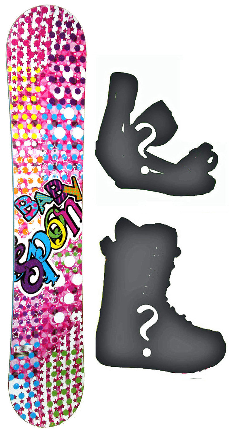 145cm  Spoon Baby Pink Rocker Snowboard, Build a Package with Boots and Bindings