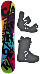 136cm  Spoon Camrock Black Line Rocker Snowboard, Build a Package with Boots and Bindings