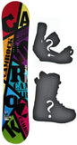 154cm  Spoon Camrock Black Line Rocker Snowboard, Build a Package with Boots and Bindings