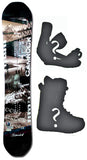 153cm  Spoon Camrock Mountain W-Rocker Snowboard, Build a Package with Boots and Bindings