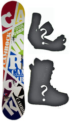 138cm  Spoon Camrock White Line W-Rocker Snowboard, Build a Package with Boots and Bindings