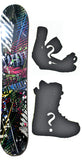 147cm  Spoon Galaxy Black Rocker Snowboard, Build a Package with Boots and Bindings
