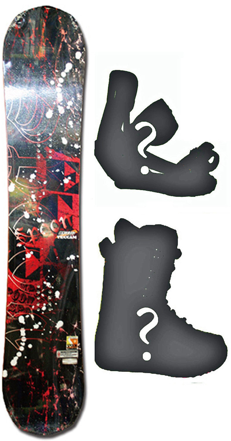 154cm  Spoon Teccam SP Red Rocker Snowboard, Build a Package with Boots and Bindings